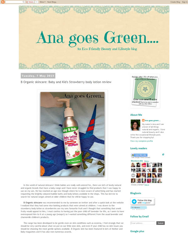 Great review from Ana Goes Green