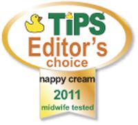 Tips, 2011 Awards - Editors Choice for Nappy Cream