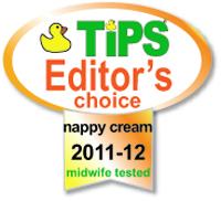 Tips, 2012 Awards - Editors Choice for Nappy Cream