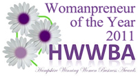 HWWBA Awards, 2011 - Winner of Womanpreneur of the Year 2011